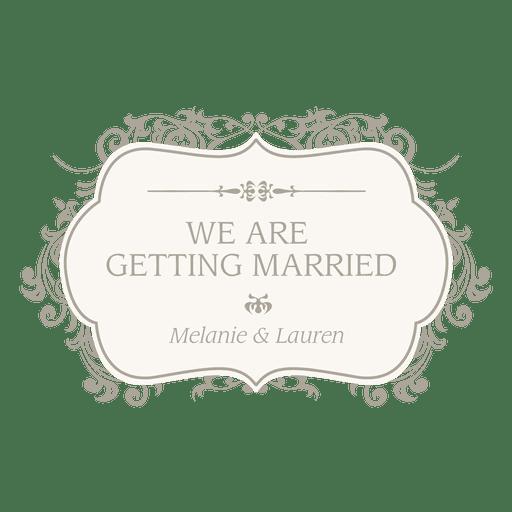 Casandose invitacion floral Transparent PNG