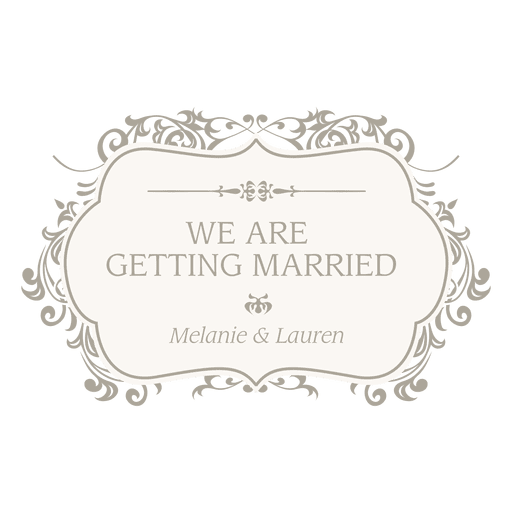 Getting married floral invitation Transparent PNG