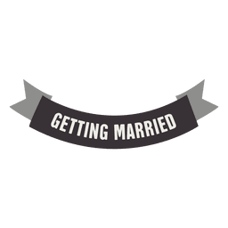 Getting married ribbon label