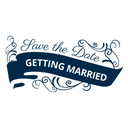 Getting married wedding badge 4