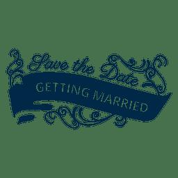 Getting married wedding badge 4