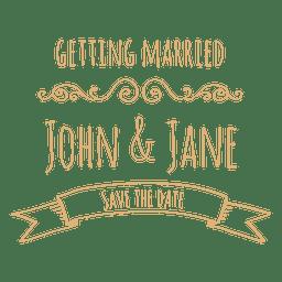 Getting married wedding label 4