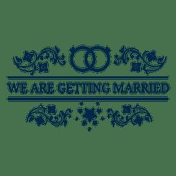 Casamento casado casamento rótulo 5