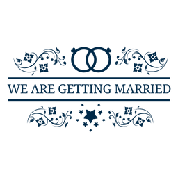 Getting married wedding label 5