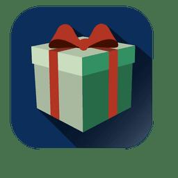 Icono cuadrado de caja de regalo 3D