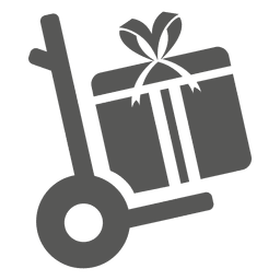Giftbox on trolley icon