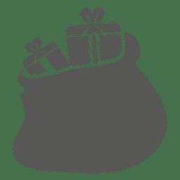 Icono de bolsa de cajas de regalo