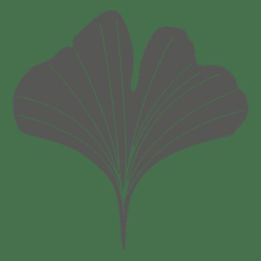 Ginko line style leaf