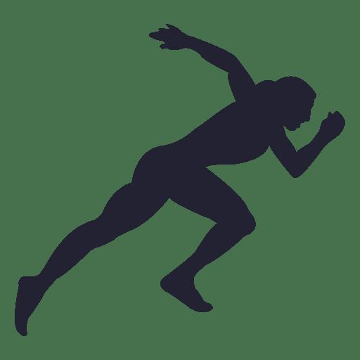Silueta de niña atleta 5