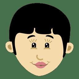 Girl cartoon head character 1