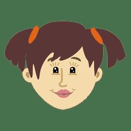 Girl cartoon head character 3