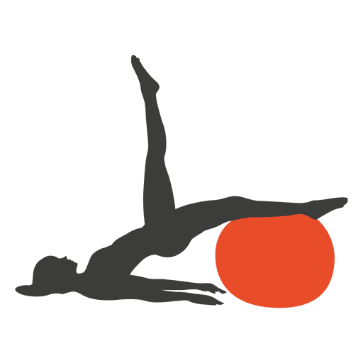 Girl exercising pilates silhouette Transparent PNG