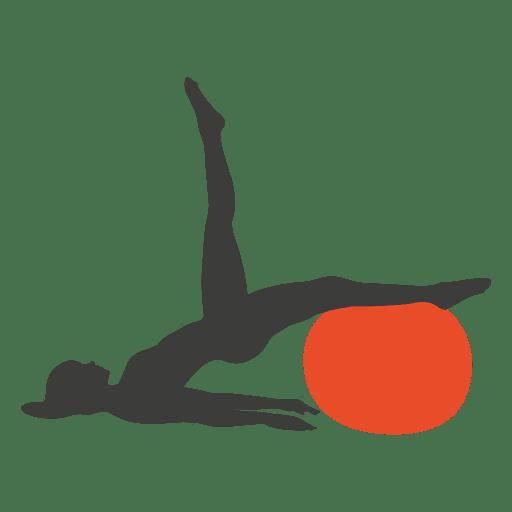 Silhueta de menina fazendo exercícios de pilates