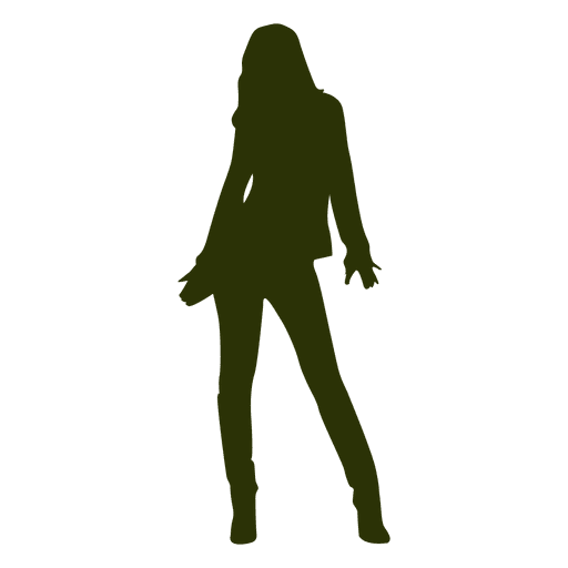 Girl fashion pose silhouette Transparent PNG