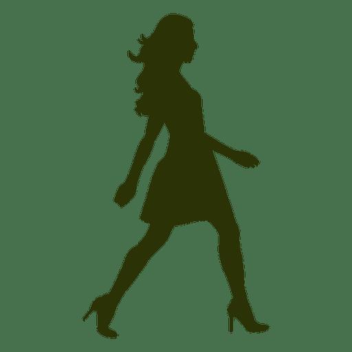 Girl fashion walking silhouette 6