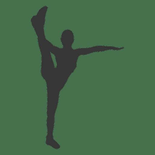 Silueta de niña fitness Transparent PNG