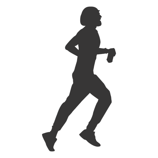 Girl jogging silhouette png