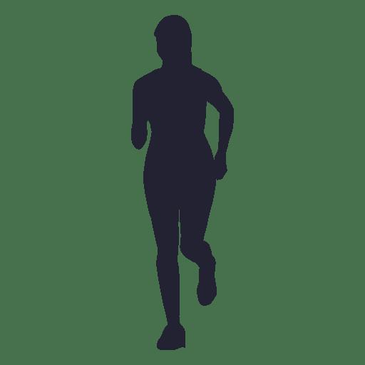 Girl marathon running silhouette - Transparent PNG & SVG ...