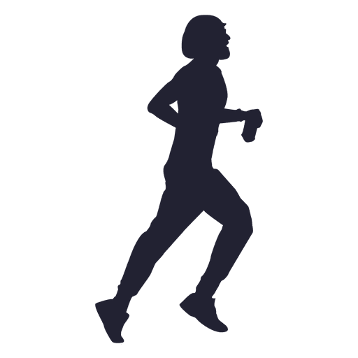 marathon menina correndo silhueta 1 baixar png svg transparente