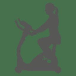 Menina no ícone de spin bike