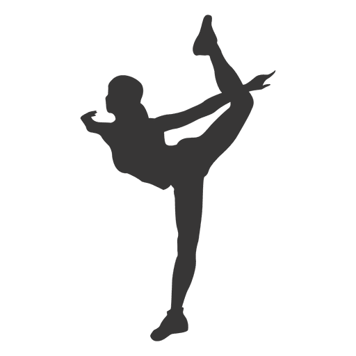 Girl performing ballet silhouette Transparent PNG
