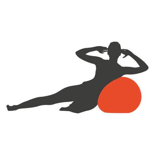 Girl pilates silhouette Transparent PNG