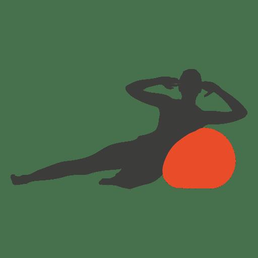 Silueta de niña pilates Transparent PNG