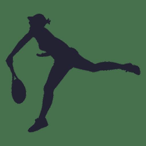 Menina, tocando, tênis, silueta Transparent PNG