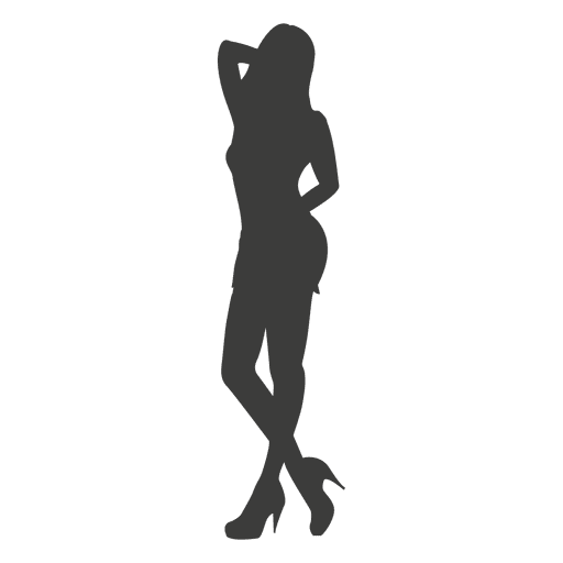 Girl provoking silhouette Transparent PNG