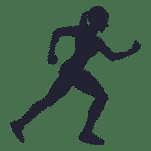 Diseño de silueta de mujer corriendo
