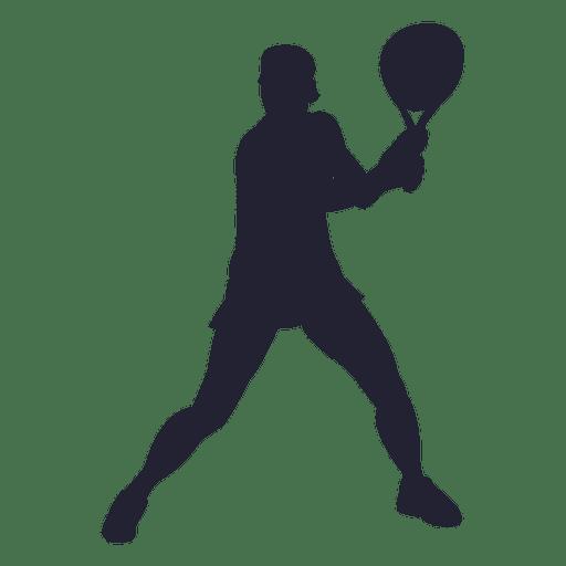 Silhueta de jogador de tênis de menina 1 Transparent PNG