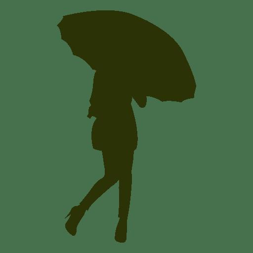 Girl underneath umbrella Transparent PNG