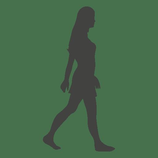 Girl Walking Barefoot Silhouette Transparent Png Amp Svg