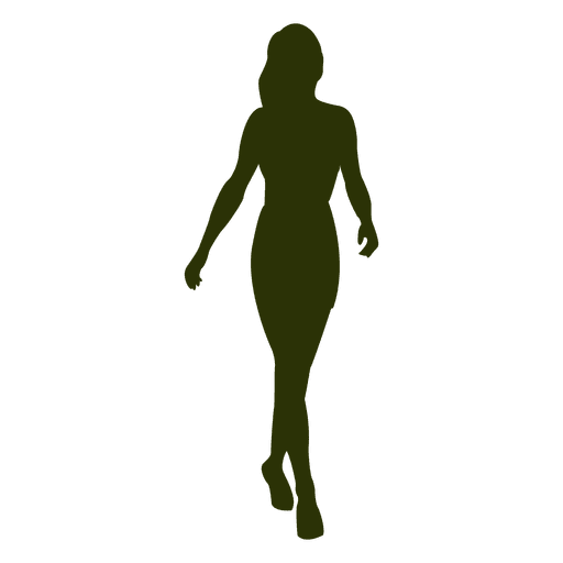 Galerry woman walking dog silhouette