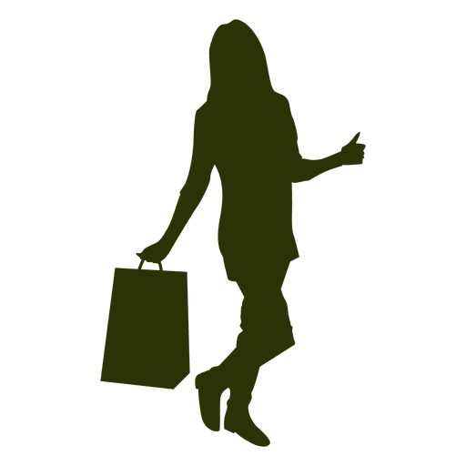 Girl with shopping bag 3 Transparent PNG