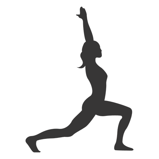 Girl Yoga Practice Silhouette Transparent Png Svg Vector File
