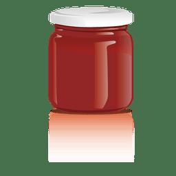 Tarro de mermelada de vidrio