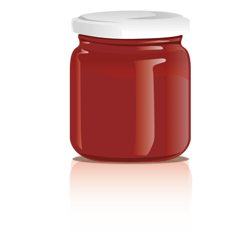 Glass jam jar png