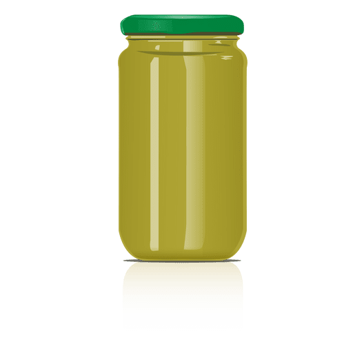 Tarro de cristal verde