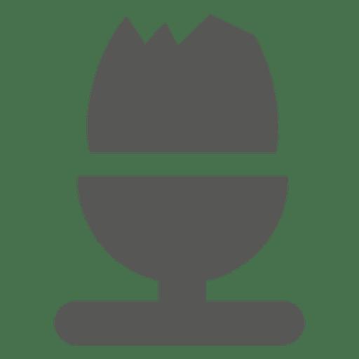 Glass of icecream icon