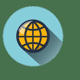Icono de círculo global
