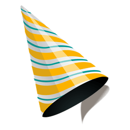 Golden stripe party cap