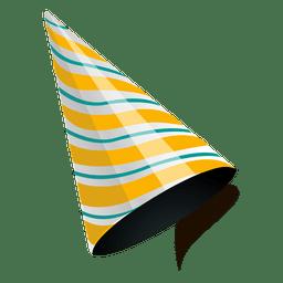 Gorra dorada de fiesta de rayas