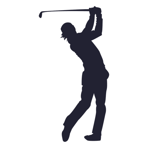 Golf player shooting silhouette
