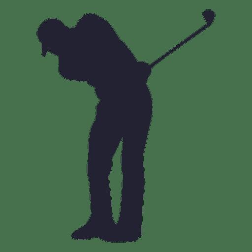 Silhueta de jogador de golfe