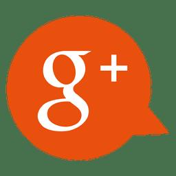 Google más icono de la burbuja