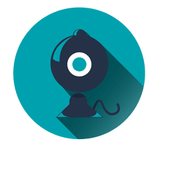 Blue gramophone circle icon