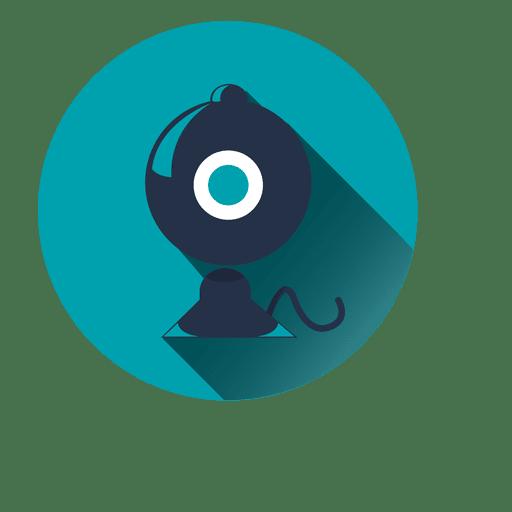 Ícone de círculo de gramofone azul Transparent PNG