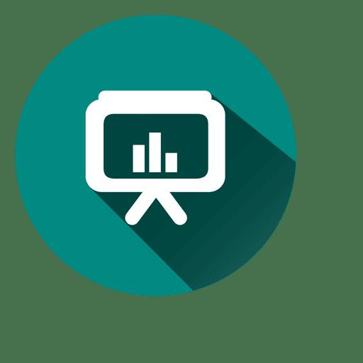 Ícone de círculo de tv gráfico Transparent PNG