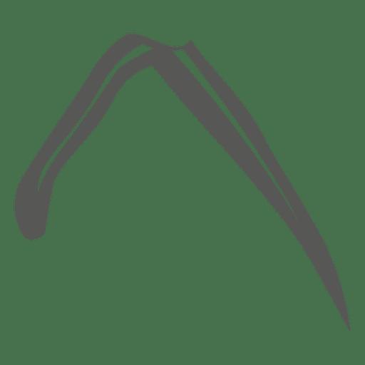 Grass line stroke leaf Transparent PNG